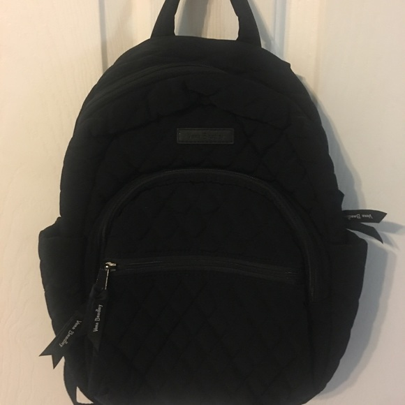 Vera Bradley Black Quilted Small Backpack